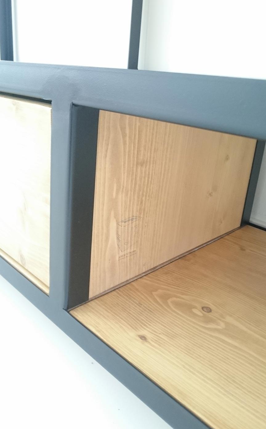 Kast Staal Hout Zwart Joyce Flendrie Interior Design